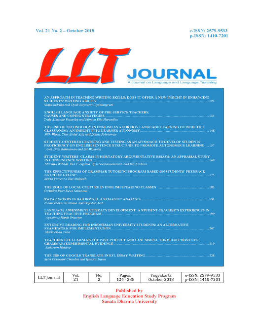 LLT Journal: A Journal on Language and Language Teaching